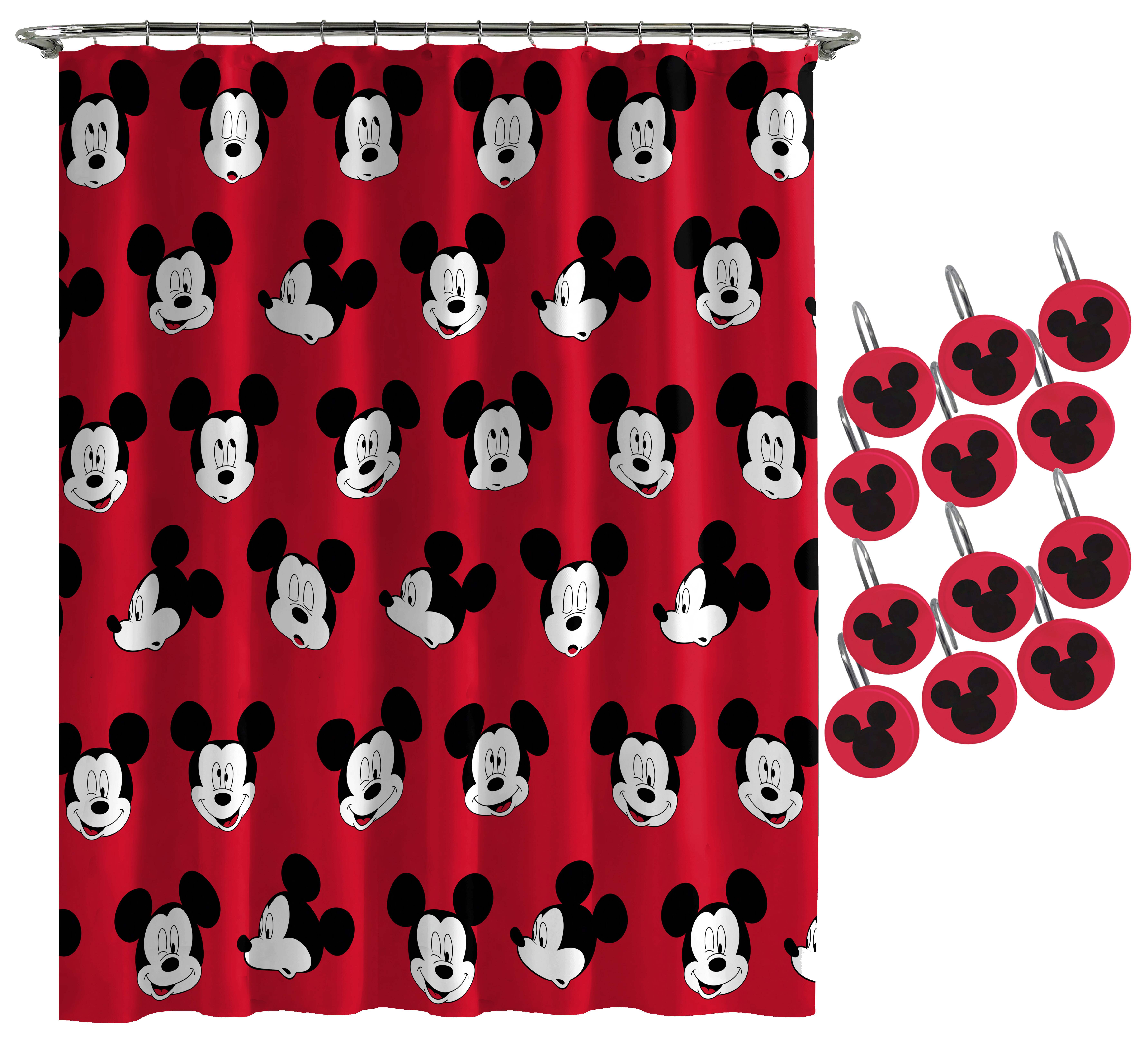 Swell Disney Mickey Mouse Heads Shower Curtain Download Free Architecture Designs Scobabritishbridgeorg