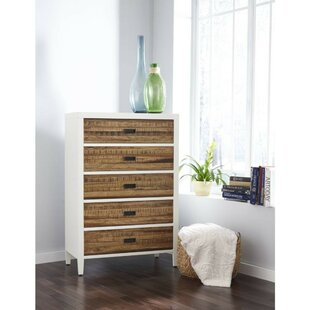 Bowlin Plank Wood 5 Drawer Chest