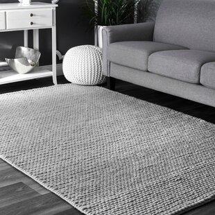 Makenzie Woolen Cable Hand Woven Light Grey Area Rug