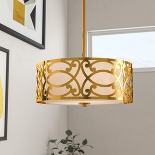 Deals Sergent 3-Light Drum Chandelier By Willa Arlo Interiors