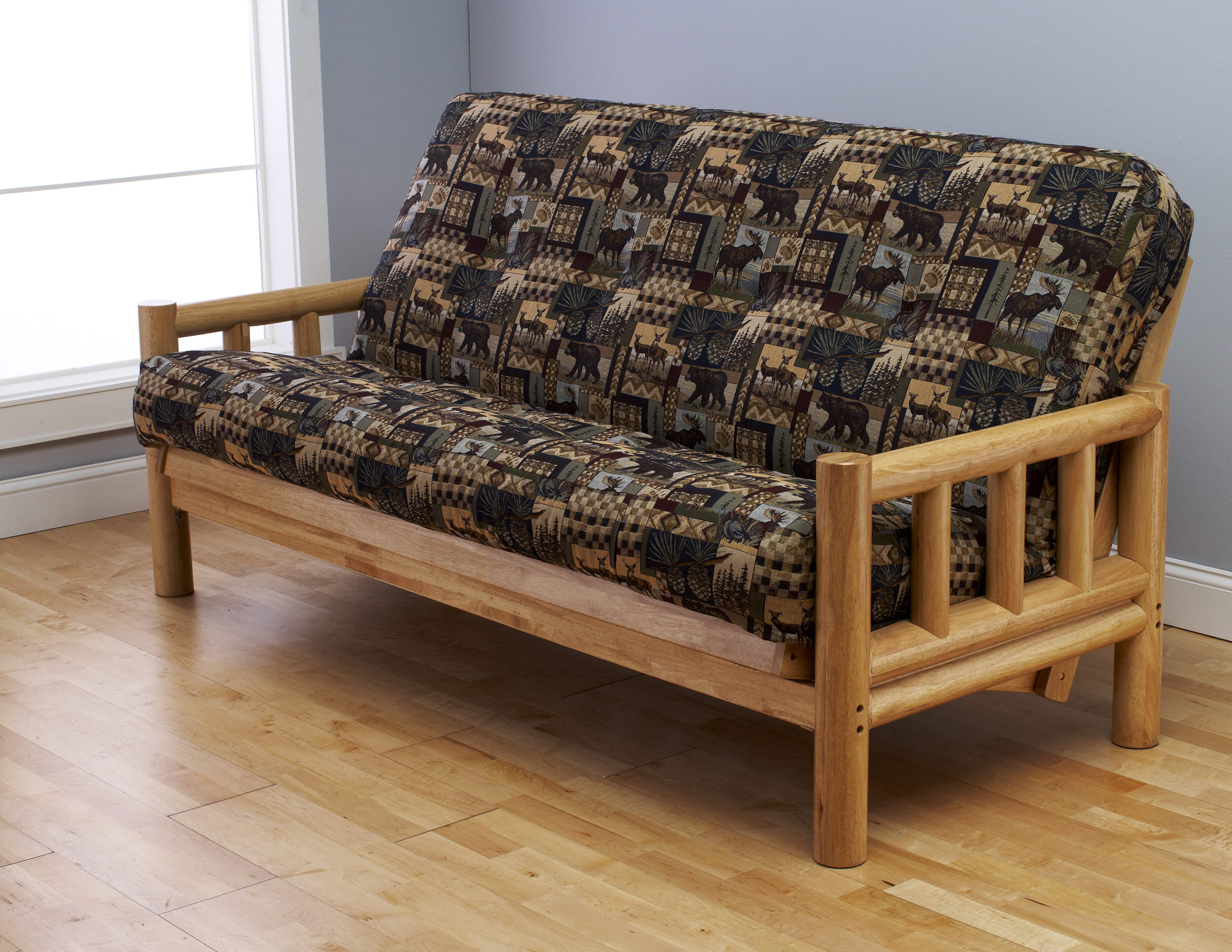 full garden product mattress clay futons shipping hansen inch size today long overstock home extra alder futon free
