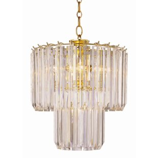 Crystal chandeliers youll love wayfair benedetto 5 light crystal chandelier aloadofball Images