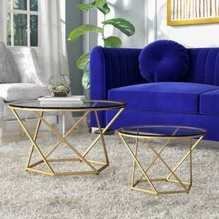 Adrianna 2 Piece Coffee Table Set Everly Quinn