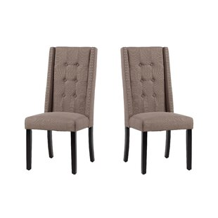 Arrigo Upholstered Dining Chair (Set of 2) House of Hampton