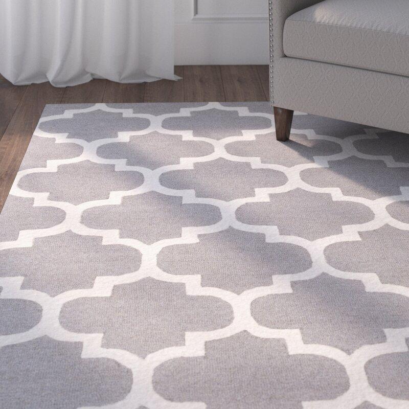 charlton home blaisdell gray geometric stella area rug & reviews