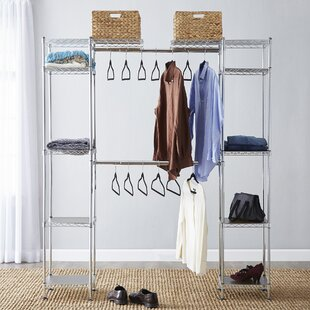 Best Choices Wayfair Basics 58W-83W Closet System with Bins & Velvet Touch Hangers By Wayfair Basics™