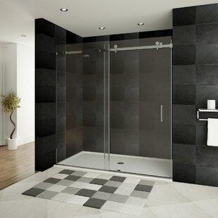 Purchase Ultra-B 48 x 76 Single Sliding Semi-Frameless Shower Door ByLessCare