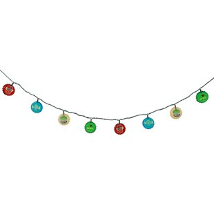 Affordable 10-Light 8.5 ft. Beer Bottle Cap String Lights By DEI