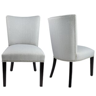 Sydny Concave Back Upholstered Parsons Chair (Set of 2) Sole Designs