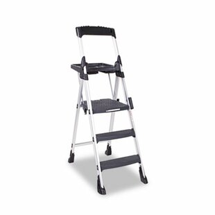 575 ft aluminum folding step ladder with 300 lb load capacity - Kitchen Step Ladder