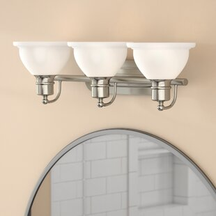 Best Reviews Gradall 3-Light Vanity Light By Three Posts