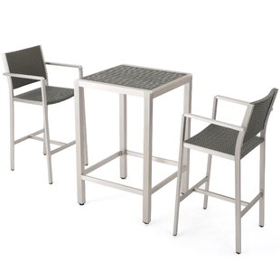 Durbin 3 Piece Bar Height Dining Set
