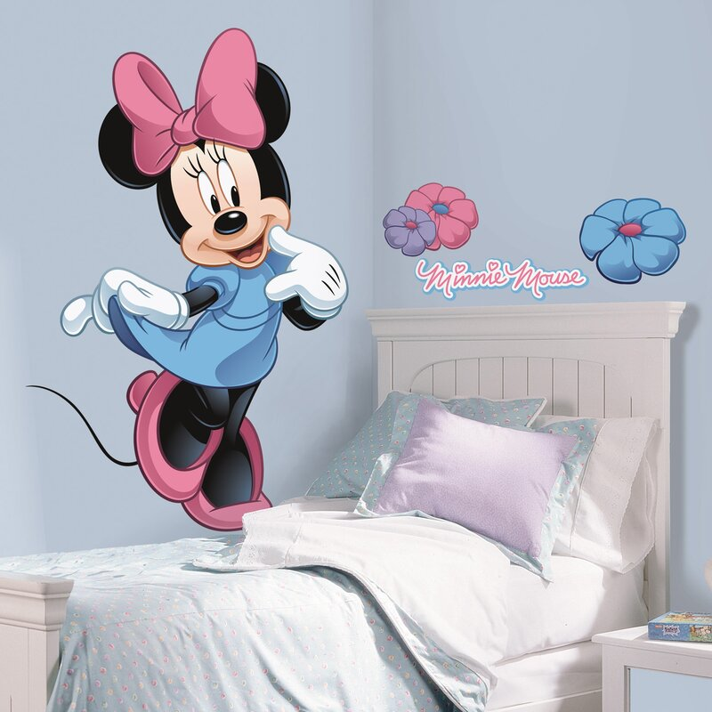Gentil Mickey And Friends Minnie Mouse Wall Decal
