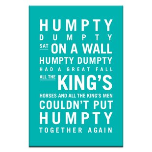 Humpty Dumpty by Nursery Canvas Art in Teal by Artist Lane