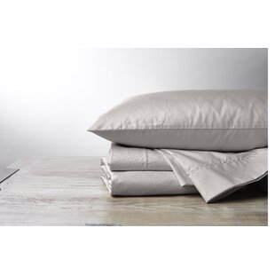 Organic 500 Thread Count Solid Color 100% Cotton Percale Sheet Set (Set of 4)