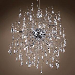 Silvestre 15-Light Crystal Chandelier by Rosdorf Park