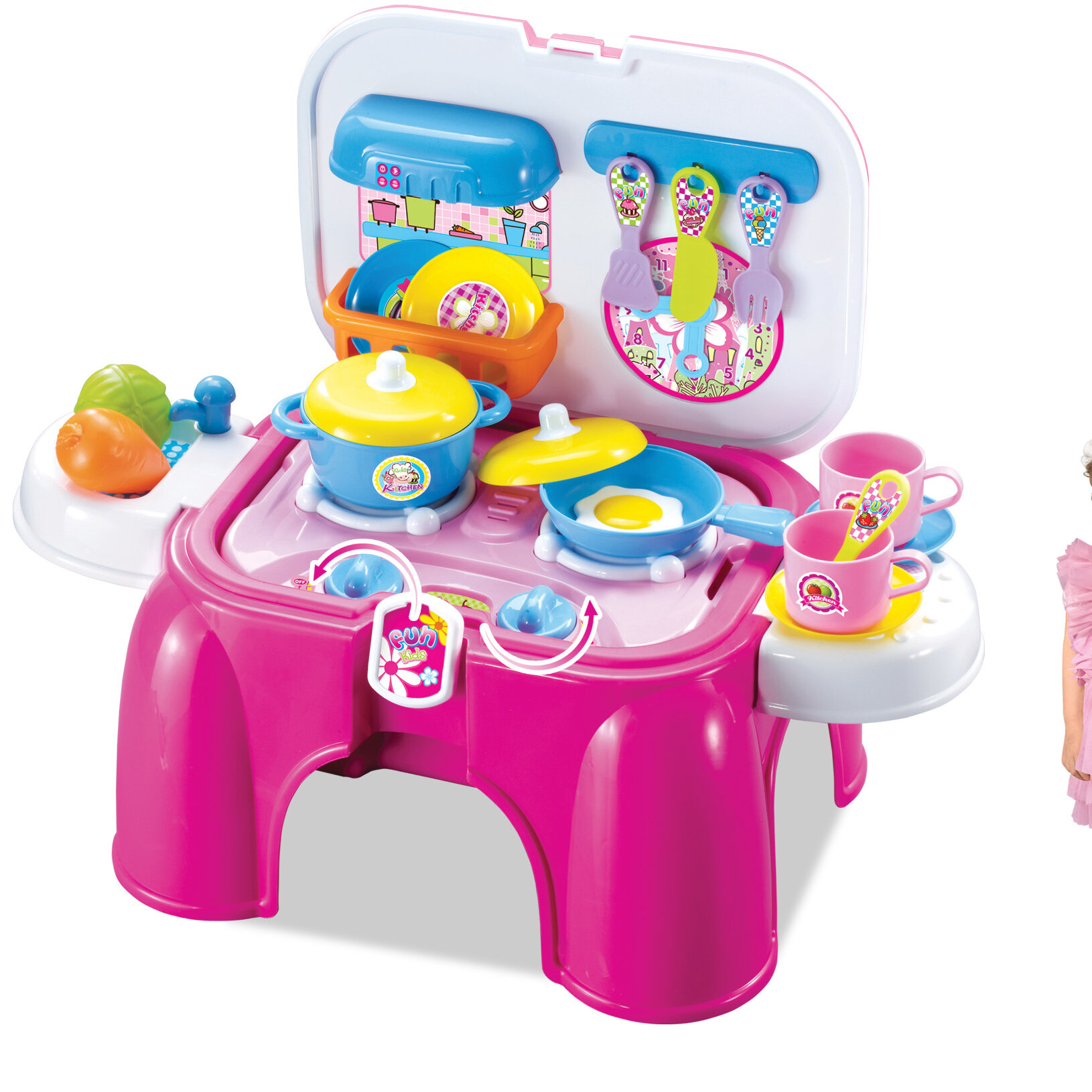 Berry Toys My First Portable Play and Carry Kitchen Bench Play Set