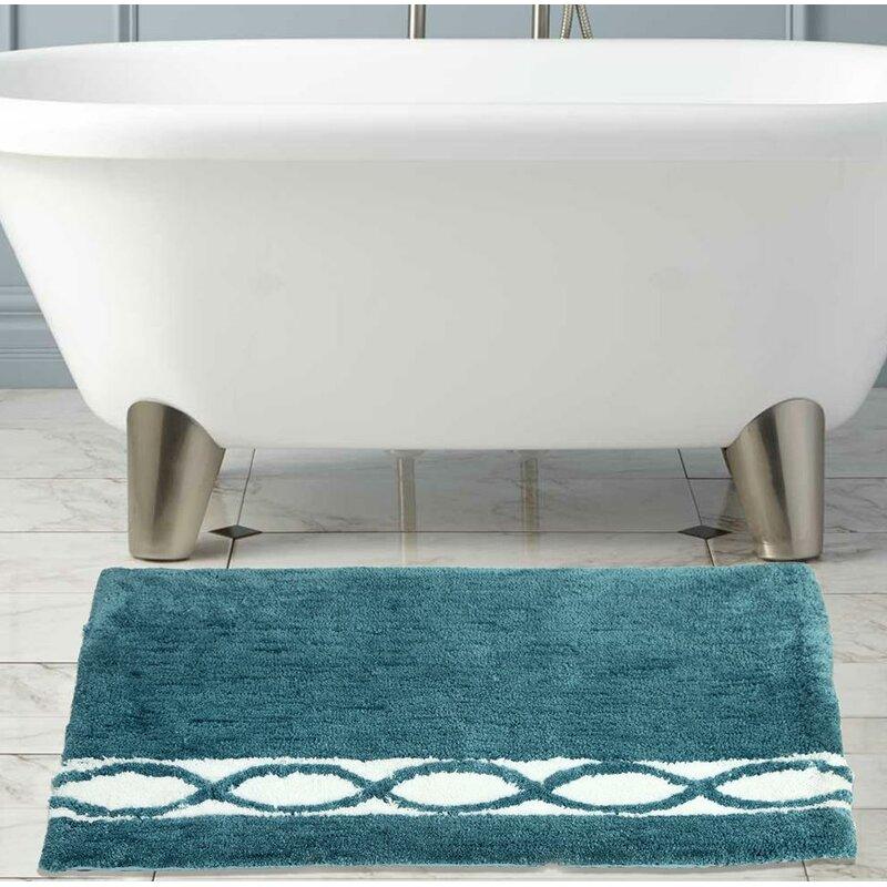 Yamaguchi Wave Microfiber Bath Rug