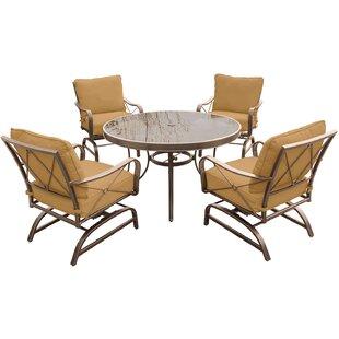 Rhonda 5 Piece Dining Set with Cushions ByFleur De Lis Living