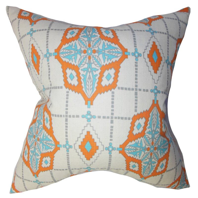 Bloomsbury Market Delane Geometric Cotton Throw Pillow Cover Wayfair