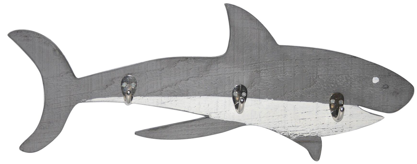 Wooden Shark Wall Hook
