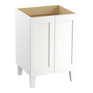 Poplin 24 Vanity Base Only with Furniture Legs and 2 Doors By Kohler