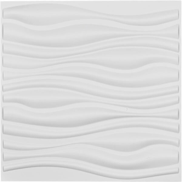 Orren Ellis Smathering 19 7 X 19 7 Vinyl Wall Paneling In White Wayfair