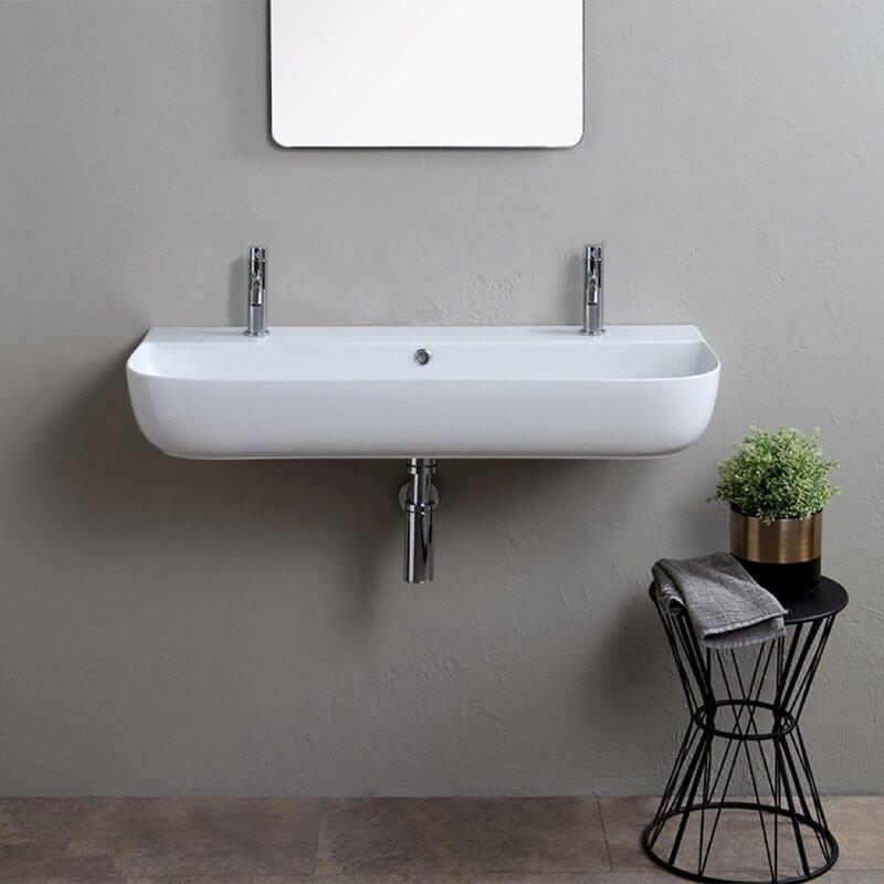 Scarabeo By Nameeks Ceramic Vessel Bathroom Sink With Overflow Reviews Wayfair