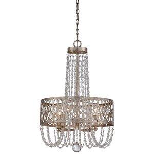 Bel Florentine 4-Light Crystal Chandelier