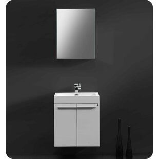 Affordable Price Senza 23 Single Alto Modern Bathroom Vanity Set with Mirror ByFresca