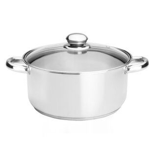 Classicor 5-1/2-Quart Stainless Steel Dutch Oven with Lid