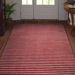 Grayville Hand Woven Wool Red Area Rug byThree Posts