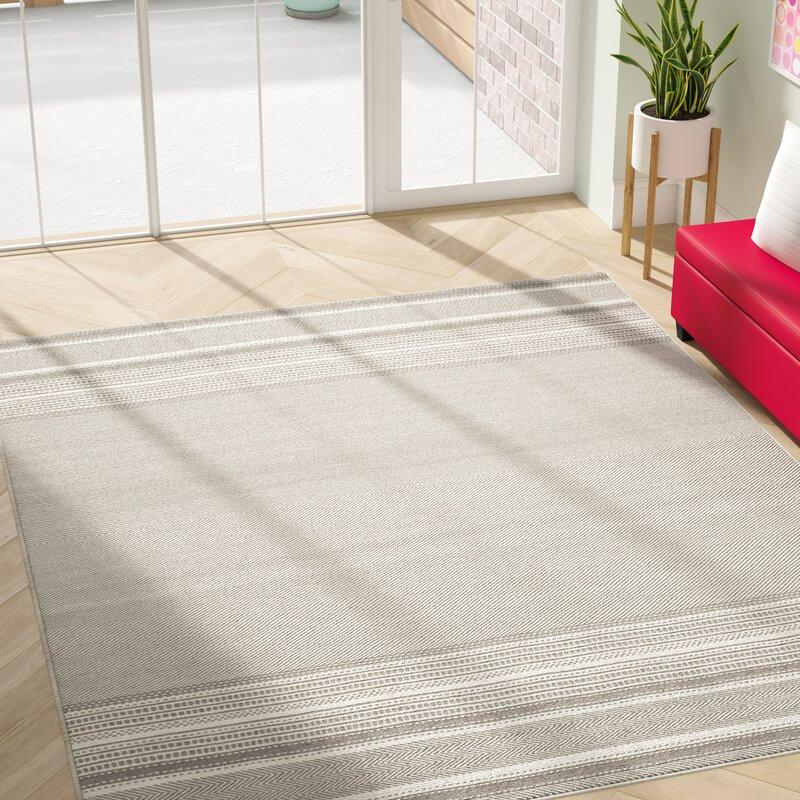 Mercury Row Elmsford Geometric Handmade Flatweave Wool Gray Ivory Area Rug Reviews Wayfair