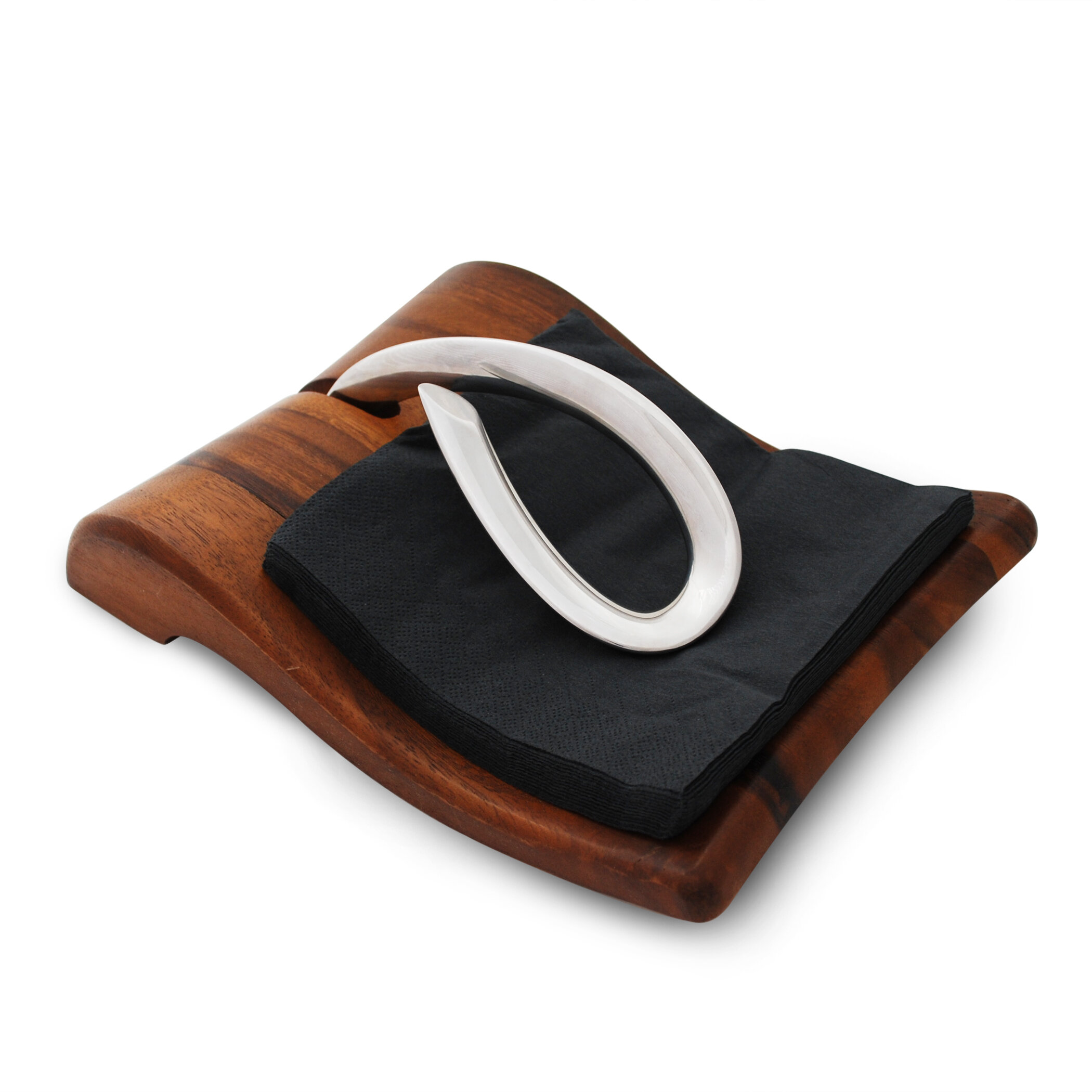 Napkin Rings Holders Acacia Wood Napkin Holder Modern Kitchen Decor Napkins Storage Table Top Stand Home Furniture Diy Tallergrafico Com Uy