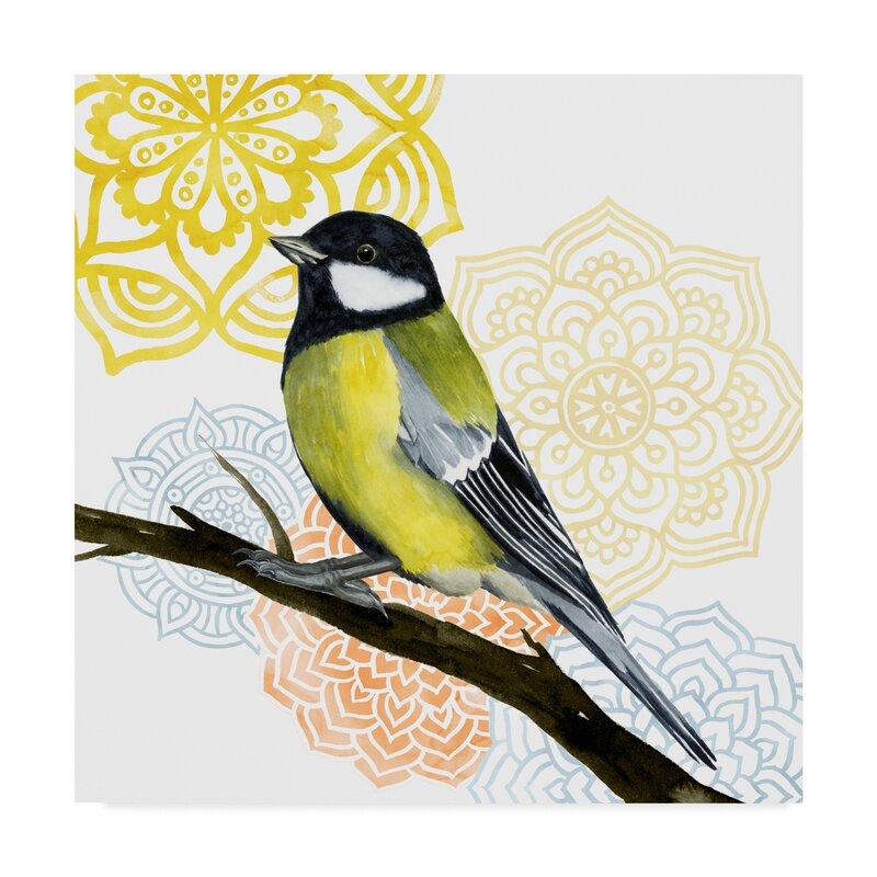 East Urban Home Mandala Bird Iii Acrylic Painting Print On Wrapped Canvas Wayfair
