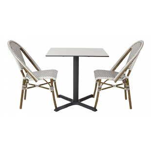 Avery Outdoor 3 Piece Bistro Set