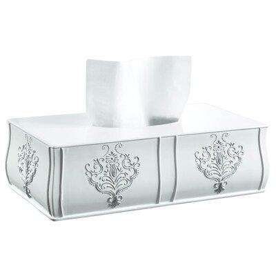 Vintage White Tissue Box Cover Lark Manor