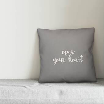 Ebern Designs Lynbrook Kiss Me You Fool Throw Pillow Wayfair