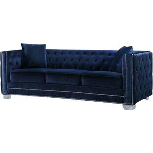 Blue Velvet Sofas You\'ll Love | Wayfair