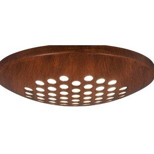1-Light LED Light Fitter Ceiling Fan Bowl Light Kit