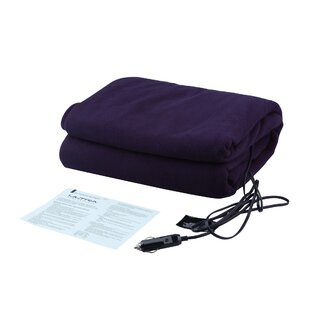 12V Heated Travel Fleece Throw