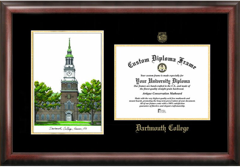 Campus Images NCAA Gold Embossed Diploma with Campus