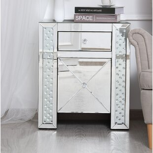 Abernathy 1 Drawer Nightstand by Rosdorf Park
