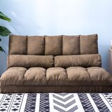 Double Sofa Floor Couch and Sofa with Pillows Chaise Lounge by Trule