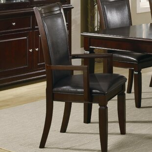 Price comparison Emmanuel Wooden Upholstered Dining Chair (Set of 2) by Darby Home Co Reviews (2019) & Buyer's Guide