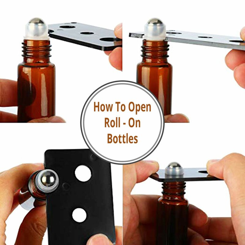 Rishikesh Essential Oil Roller Bottles | 10ml Clear Glass Roll-on Bottles |  Pack of 36 | Rust-Resistant Stainless Steel Roller Balls |Durable Roller