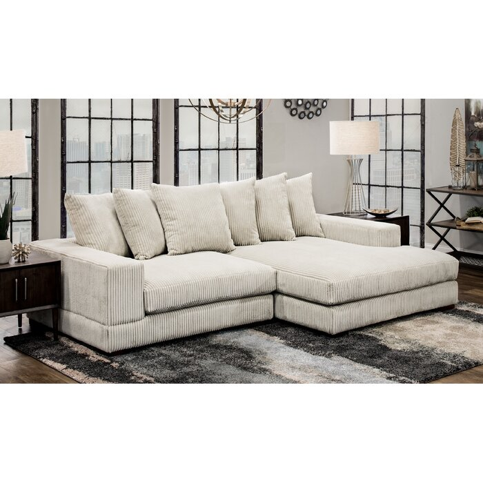 Groovy Luxe Right Hand Facing Sectional Gmtry Best Dining Table And Chair Ideas Images Gmtryco