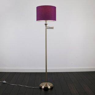 Purple floor lamps wayfair sinatra 155cm reading floor lamp aloadofball Gallery