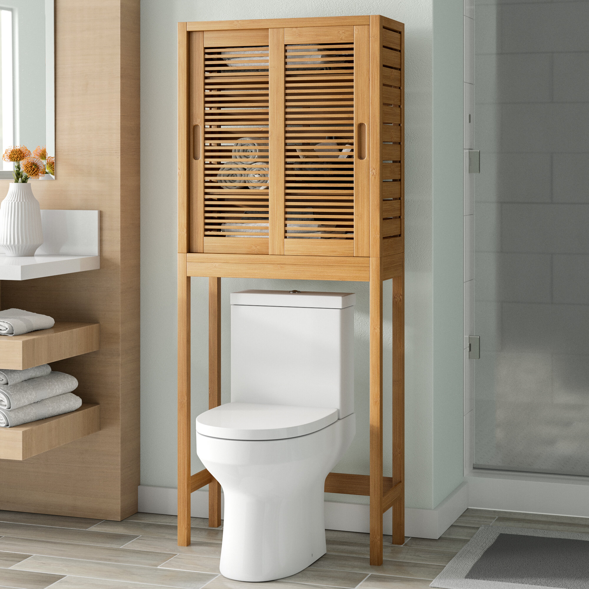 Dotted Line Ayden 26 W X 65 H Over The Toilet Storage Reviews Wayfair