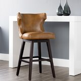 Dopkins Bar & Counter Swivel Stool by Canora Grey
